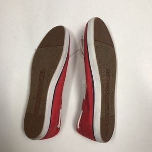 Nautica Shoes Womens Pinecrest A Red Canvas One Poshmark